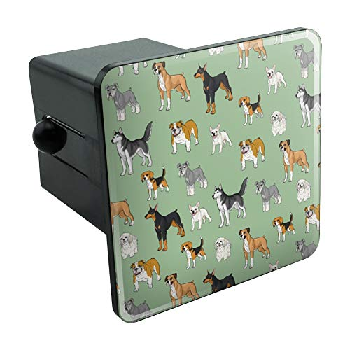 Graphics and More Plenty of Dogs Pattern Tow Trailer Hitch Cover Plug Insert