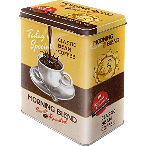 Nostalgic Art Retro L Vorratsdose, Große Kaffee-Dose aus Blech, Coffee & Chocolate - Morning Blend, 3 l