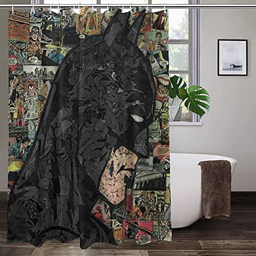 Lsolate Duschvorhang mit Batman-Motiv, wasserdicht, Stoff