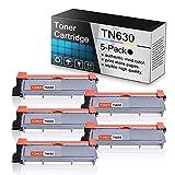 (5 Pack Black Toner Cartridge TN630) Compatible Toner Cartridge Replacement for Brother HL-L2300D L2305W L2315DW L2320D MFC-L2680W L2685DW L2700DW L2720DW MFC-L2740DW DCP-L2520DW L2540DW Printers.