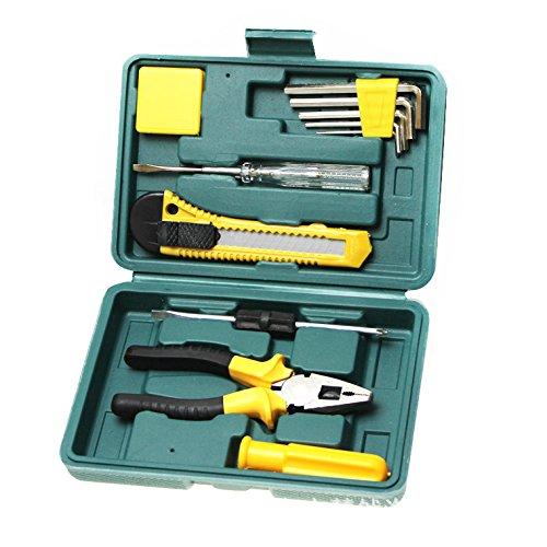 AMYMGLL Boîte à outils d'urgence voiture 11 pièces kit combinaison Ensemble kit de réparation automobile fournitures automobiles poids d'environ 0,55 kg