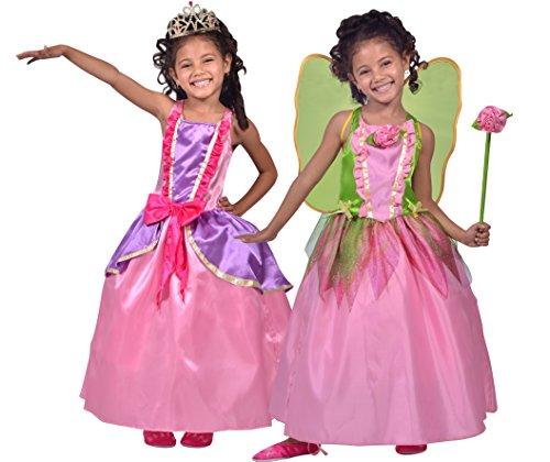 César - M310148 - Costume - Déguisement 2 En 1 Princesse Et Fée - 8/10 Ans