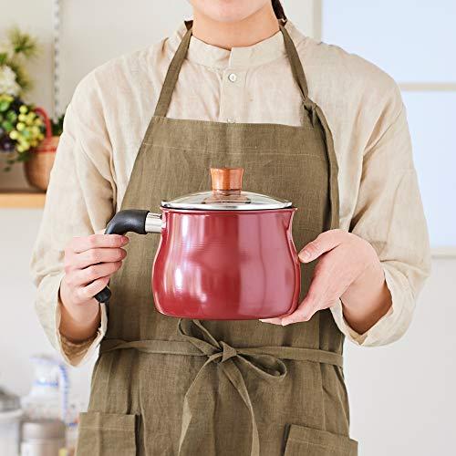和平フレイズマルチポットMサイズ14cm2.2L(1~2人用)レッドIH対応ふっ素樹脂加工ご飯鍋ミルクパン揚げ鍋トゥーメイドルチェToMaydolce一人暮らし新生活RB-1253