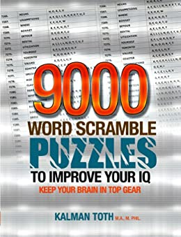9000 Word Scramble Puzzles to Improve Your IQ by [Kalman Toth M.A. M.PHIL.]