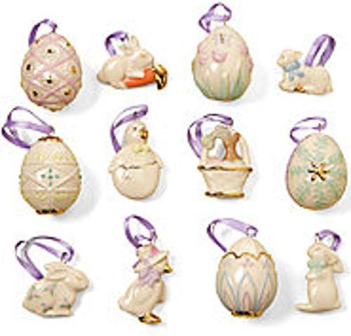 Ranking TOP18 Lenox Easter Ranking TOP18 Miniature Tree Ornaments Set Decoration B of Egg 12