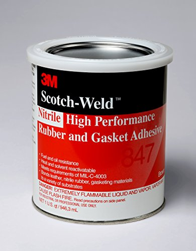 3M Nitrile High Performance Rubber and Gasket Adhesive 847, Brown