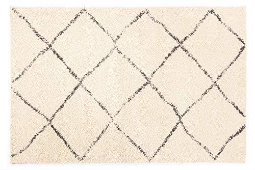StockhoLm - Tapis design vintage - Moderne - En crème - Dimensions : 80 x 150 cm, Jute, beige, 80x150 cm