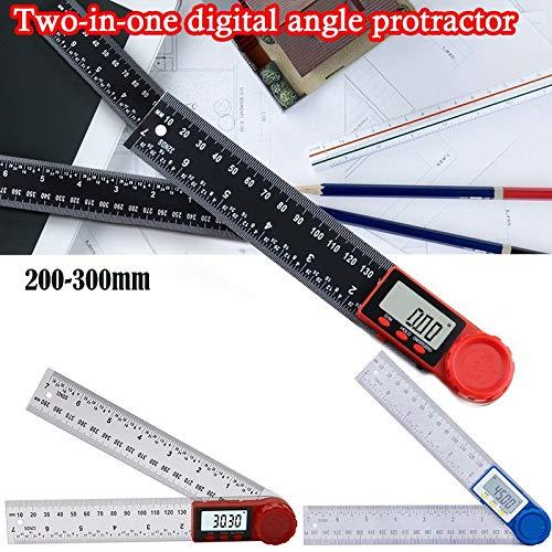 0~200 ° Digital LCD Inclinometer Protractor Spirit Level Winkelsucher, mit LCD-Anzeige for Holzbearbeitungs BAU Reparieren (Color : Black)