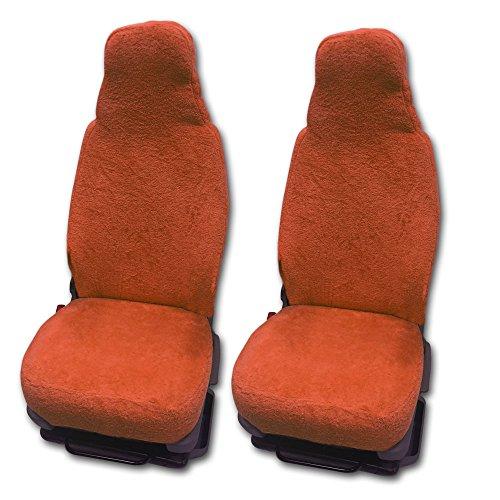 RAU Universal Sitzbezuge Schonbezüge aus 100{3d6b33cf7bd6e81ad01218fd11a88c429bb5278ad9f0019e22a57c24f5b2dc57} Frottee Farbe: Terracotta für Pilotsitze und Wohnmobile