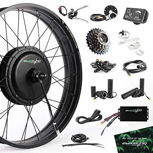 """EBIKELING 48V 1200W 26"""" Fat Direct Drive Rear Waterproof Electric Bicycle Conversion Kit (Rear/LED/Twist)"""