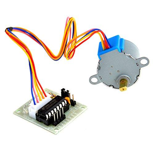 Neuftech à 5 V DC Moteur pas à pas Arduino 28BYJ-48 28BYJ48 5 câbles 4 phases avec carte de contrôle ULN2003