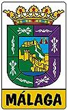 Artimagen Pegatina Escudo Vertical Málaga 50x85 mm.