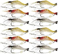 The taste of industrial shrimp for fishing length 8 cm 6 grams, 12 pieces