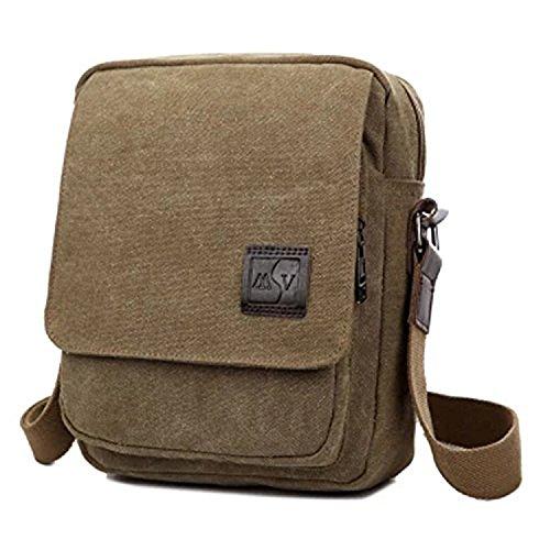 MeCool Umhängetasche Herren Canvas Schultertasche Vintage Messenger Bag für männer Reisetasche Sport Segeltuch schultaschen Strandtasche Herrentaschen Reisetaschen sporttasche weekender freitag Tasche (Beige)