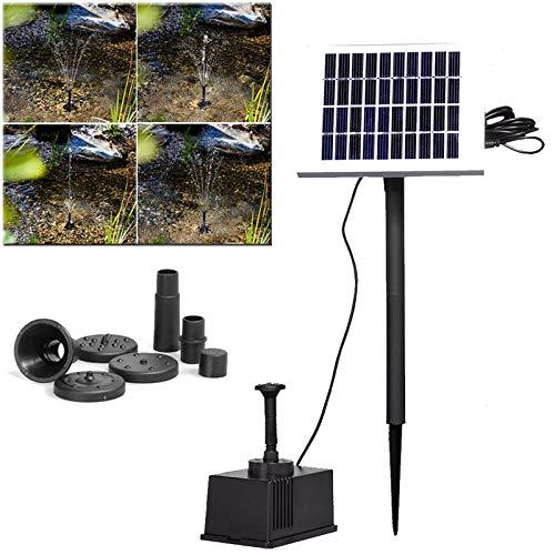 HENGMEI Solar Springbrunnen Solarpumpe für brunnen mit 2W Solar Panel Teichpumpe Springbrunnenpumpe Solar Wasserpumpe für Vogeltränken, Fischteiche, Gartenteich Springbrunnen