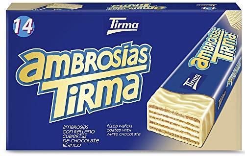 Tirma Ambrosía Chocolate Blanco, 14 Unidades x 21.5G, 301 Gramos