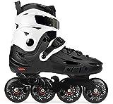 Patines de ruedas patines en línea Hombres Mujeres Profesional velocidad patines for Adultos Niño Niña de fitness patines resistente al desgaste al aire libre, Dimensiones: EU 38 / US 6 / UK 5 / JP 24
