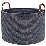 XXL Multi Purpose Large Blanket Basket Living Room 20'X20'X13', Haidms Blanket Storage Basket Living Room, Large Woven Laundry Basket - Rope Storage Basket Large Baskets for Blankets Storage