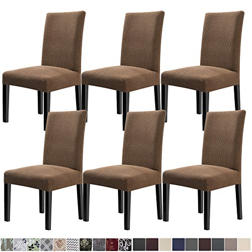 Fuloon 6 Pack Super Fit Stretch Removable Washable Short Dining Chair Protector Cover Seat Slipcover For Hotel Dining Room Ceremony Banquet Wedding Party Brown Buy Online In Bosnia And Herzegovina At Bosnia Desertcart Com Productid 130269652