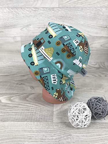 Sonnenhut inkl Nackenschutz 41-54 Jersey mütze retro Autos braun grün kopftuch, Sonnenschutz baby, Schirmmütze, sommermütze