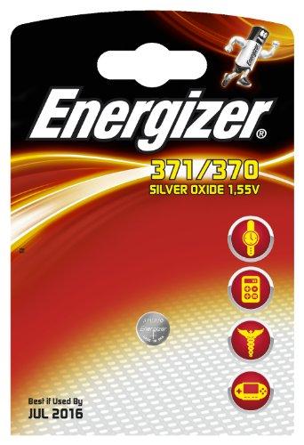 Energizer Piles pour Montre en Oxyde d'Argent 371/370 1,55 V
