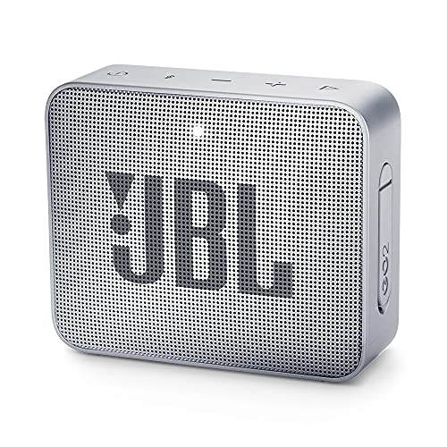 JBL GO 2 Altavoz Bluetooth portátil, Impermeable IPX7, con micrófono, hasta 5 Horas de autonomía, Gris