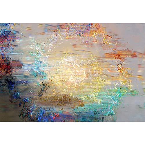 WLPBH Mural 3D Autoadhesivo Nebulosa De Pintura Al Óleo Abstracta Colorida Pintada...