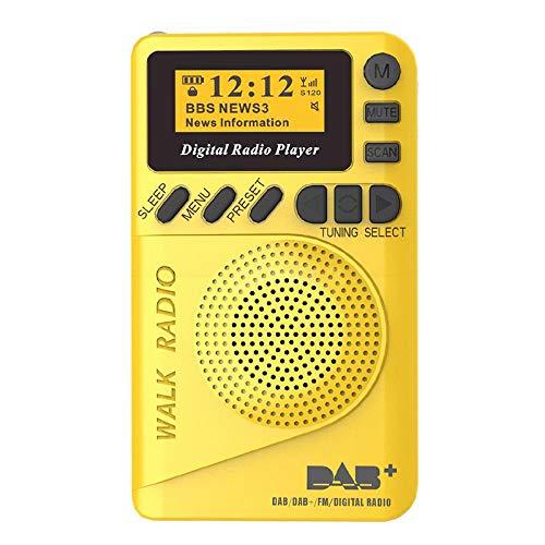 P9 Mini Pocket Radio Portable DAB+ Digital Radio Rechargeable Battery FM Radio LCD Display EU