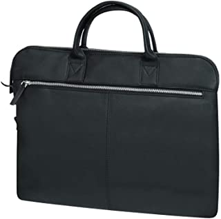Santhome Leather Black Laptop Bags