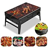 Charcoal Grill Perfect Stainless Steel Foldable BBQ Grill for Outdoor Grilling Cooking Camping...