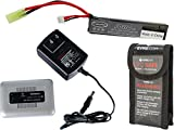 Evike Matrix High Performance 7.4V Stick Type Airsoft/RC LiPo Battery (Configuration: 1000mAh / 15C / Small Tamiya/BMS Smart Charger Starter Package)