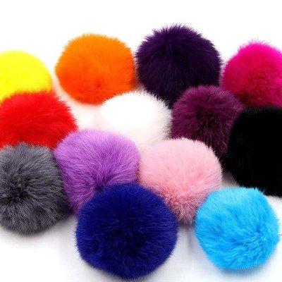 Treasure-House - Pelota de pompón de pelo sintético (20 unidades, 8 cm), varios colores