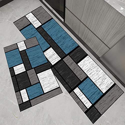 ELINHGO alfombras de Pasillo largas Baratas Lavable Antideslizante Antimanchas Multiusos felpudos para pasillos balcón Hotel Cocina salón Color A 40x200cm