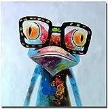 QWEWQE lustige Leinwand Bilder, Bunte niedlicher Frosch