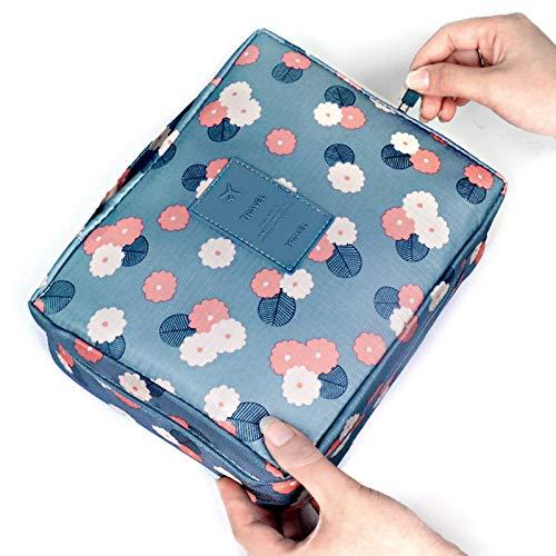 Romote 1pc Bleu Maquillage Sac de Haute qualité cosmétique Sac Femmes étanche Portable Wash Voyage Sac Multifonction Organisateur pour Toiletry Kit