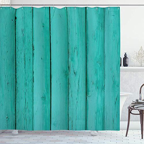 cortinas habitacion verde mar