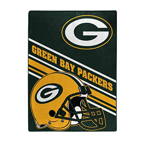"""The Northwest Company NFL Green Bay Packers Slant Silk Touch Throw Blanket, 60"""" x 80"""""""
