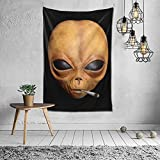 Xuanyang Lil Alien UFO Mayo Smoking Weed Hip Hop Extraterrestrial Plug Pullover Hoodie -£¨1£ Wall Tapestry Apestry Album 3D Wall Hanging Art Home Decor Wave Tapestries