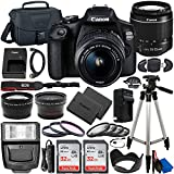 Canon EOS 2000D (Rebel T7) DSLR Camera with EF-S 18-55mm f/3.5-5.6 DC III Lens &...