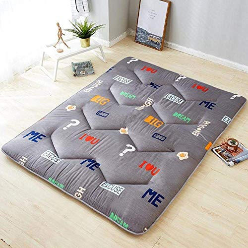 DJQ Tatami Mat, Futon Mattress Tatami Breathable Japanese Soft Sleeping Mattress for Student Dormitory Hotel Home Mattress Topper J 80x190cm (31x75inch)