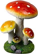 تماثيل حديقة الفطر الراتنج، أشكال ديكور خارجية فناء حديقة الحلي الجنية حديقة المقتنيات منحوتات الشرفة الأمامية G 28 × 26 ×...