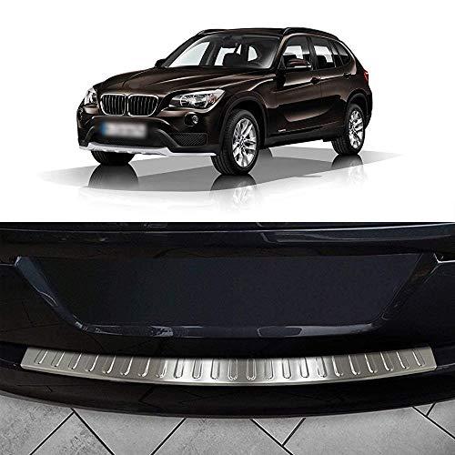 ZLYCZW Protector de Parachoques Trasero de Acero Inoxidable, Cubierta de Placa de umbral de protección contra arañazos de Maletero de Coche, Accesorios de Estilo, Apto para 2009-2015 BMW X1 (E84)