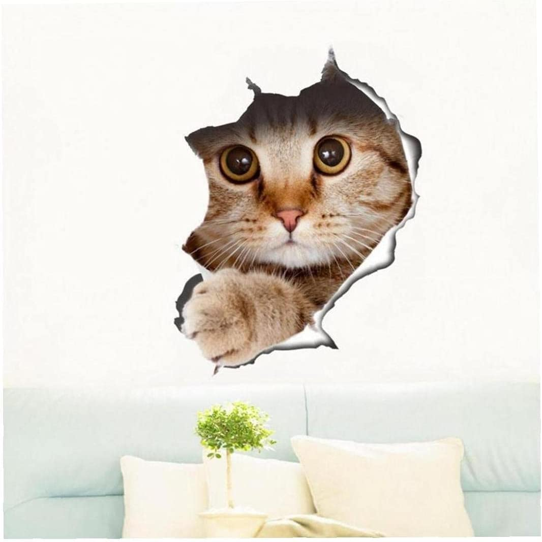 Zonster 1pc Cute New product!! Cat Stickers Wall Oklahoma City Mall Decals Toilet Lid Bathroom Co