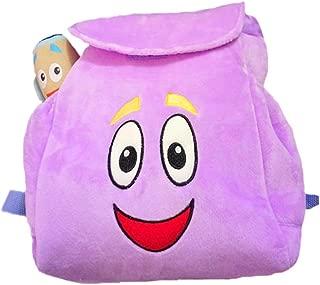 HUANHE Dora Explorer Backpack Rescue Bag, Purple Plush Doll Bag.for Children's Gift