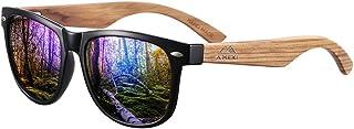 Occhiali Da Sole Polarizzate per Uomo e Donna, Occhiali con Astine in Legno/bambù e Lenti Polarizzate, UV 400