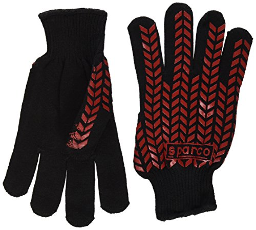 Sparco 00207NR Guantes, Negro, 10