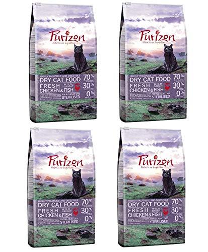 Purizon GroßhandelPL Katzen Trockenfutter Sterilised Adult Huhn & Fisch 4 x 6,5kg