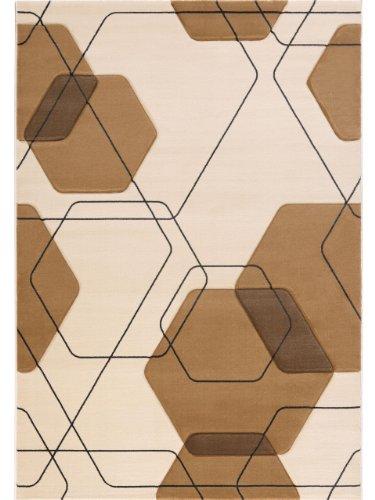 Lars Contzen Teppich Flying Cells 656 creme beige 80 x 150 cm Design Teppich