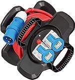 Brennenstuhl CEE-Kabeltrommel X-Gum / Camping-Kabeltrommel mit 12m Kabel in rot (Caravan-Kabeltrommel mit 2 CEE Steckdosen + 3 Schutzkontakt-Steckdosen, für ständigen Einsatz außen, Made in Germany)