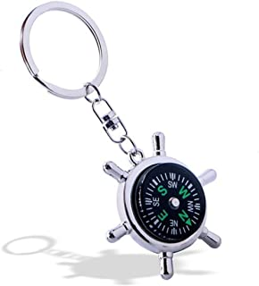 Weahre Keychain, New Fashion Style Rudder Compass Key Chain Ring Keyring